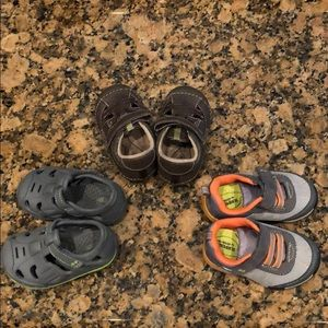 3 pair baby boy shoes. Stride Rite